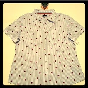 Lady Bugs Striped Blouse